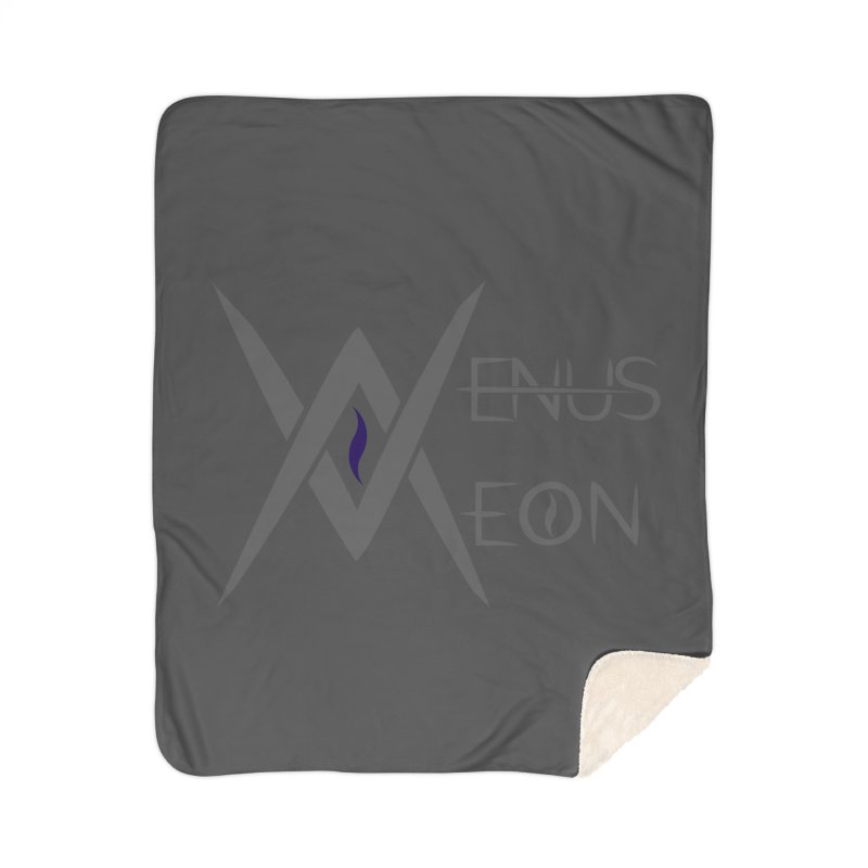 Venus Aeon logo (grey) Home Sherpa Blanket Blanket by Venus Aeon (clothing)