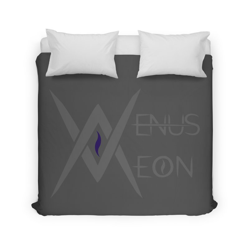 Venus Aeon logo (grey) Home Duvet by Venus Aeon (clothing)
