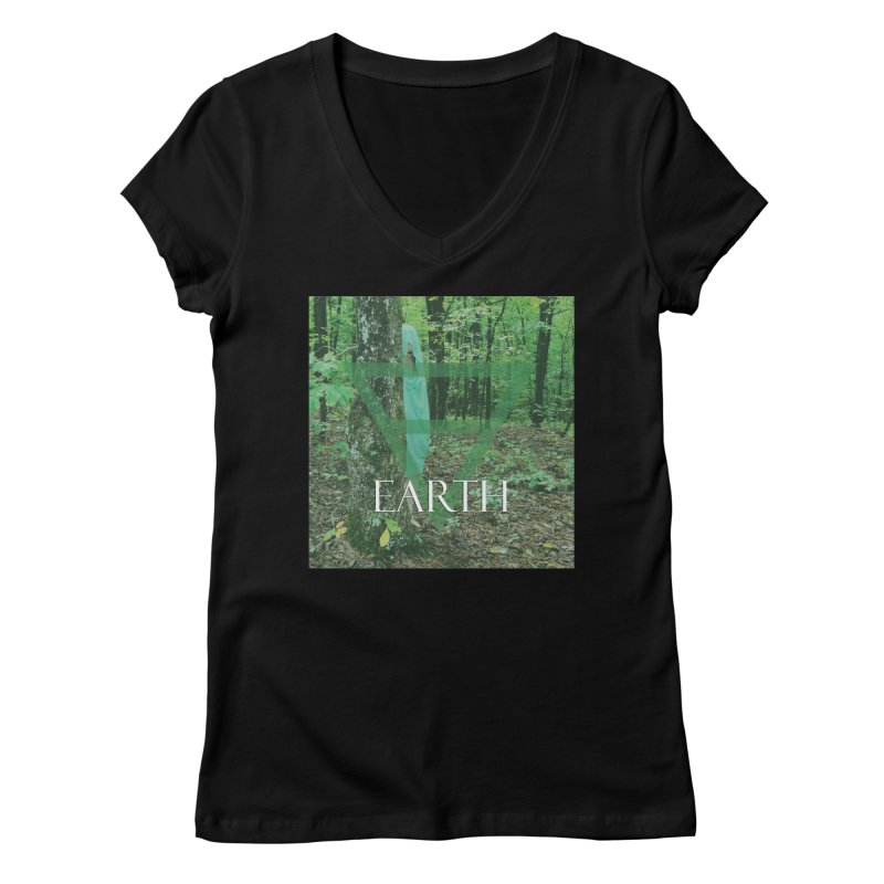 Elements Vol. 1 - Earth Women's V-Neck by Venus Aeon (clothing)