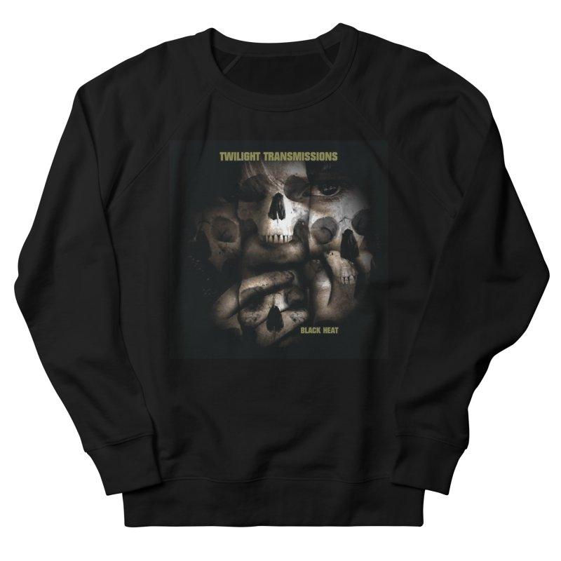 Twilight Transmissions - Black Heat Men's French Terry Sweatshirt by Venus Aeon (clothing)
