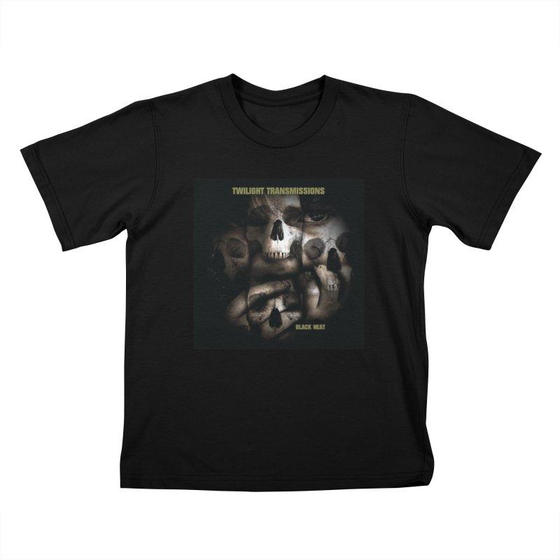 Twilight Transmissions - Black Heat Kids T-Shirt by Venus Aeon (clothing)