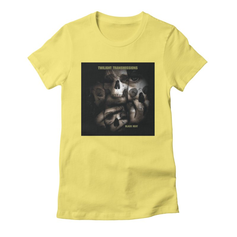 Twilight Transmissions - Black Heat Women's Fitted T-Shirt by Venus Aeon (clothing)