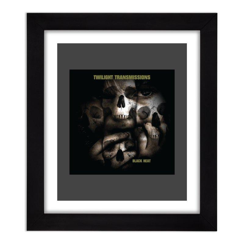 Twilight Transmissions - Black Heat Home Framed Fine Art Print by Venus Aeon (clothing)