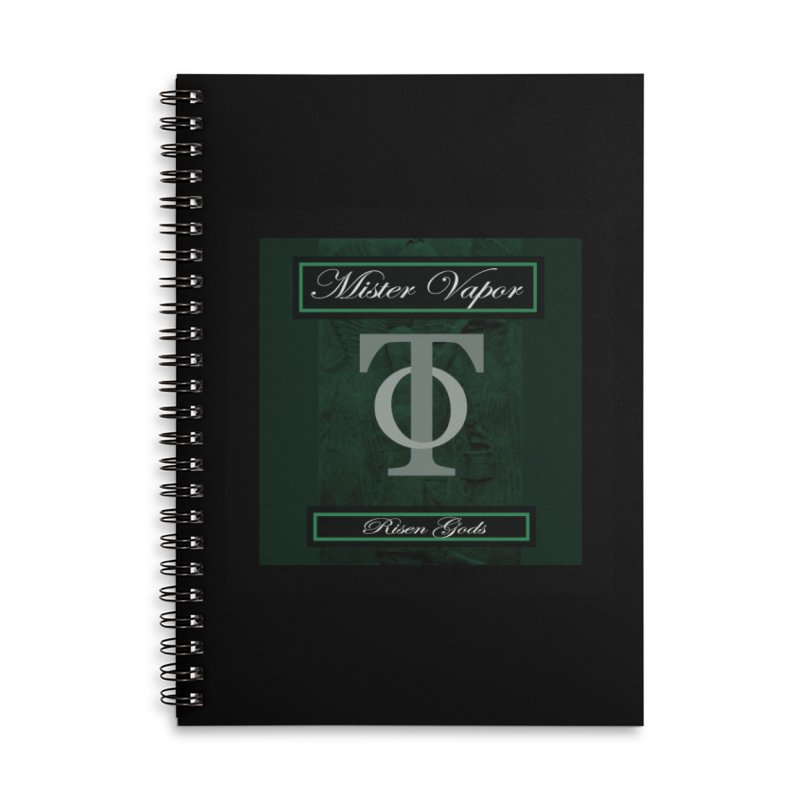 "Mister Vapor - ""Risen Gods"" Accessories Lined Spiral Notebook by Venus Aeon (clothing)"