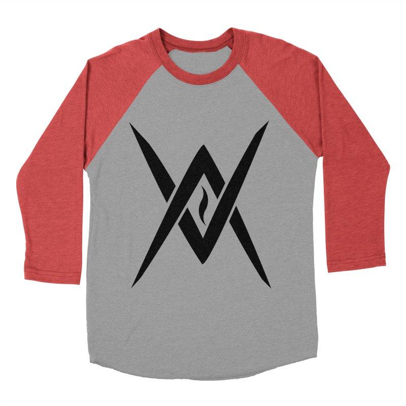 "Venus Aeon ""Tantric Black Flame"" (Black) Women's Baseball Triblend Longsleeve T-Shirt by Venus Aeon (clothing)"