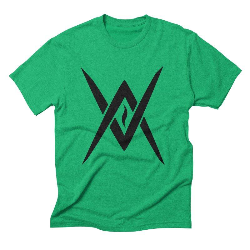 "Venus Aeon ""Tantric Black Flame"" (Black) Men's Triblend T-Shirt by Venus Aeon (clothing)"
