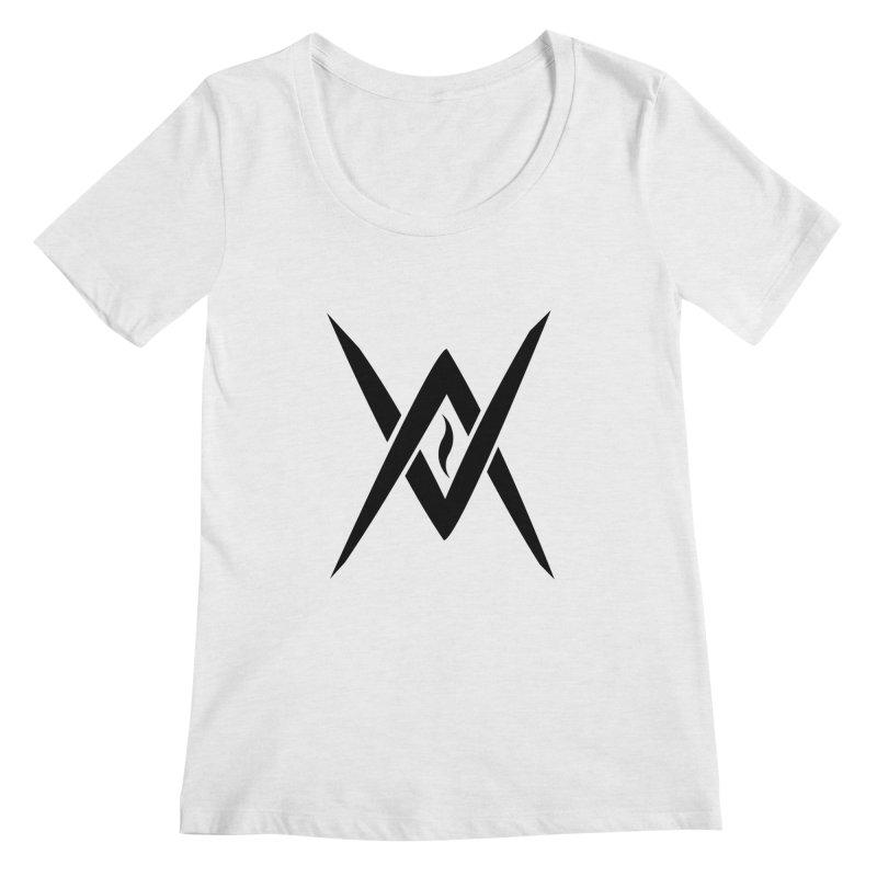 "Venus Aeon ""Tantric Black Flame"" (Black) Women's Scoopneck by Venus Aeon (clothing)"