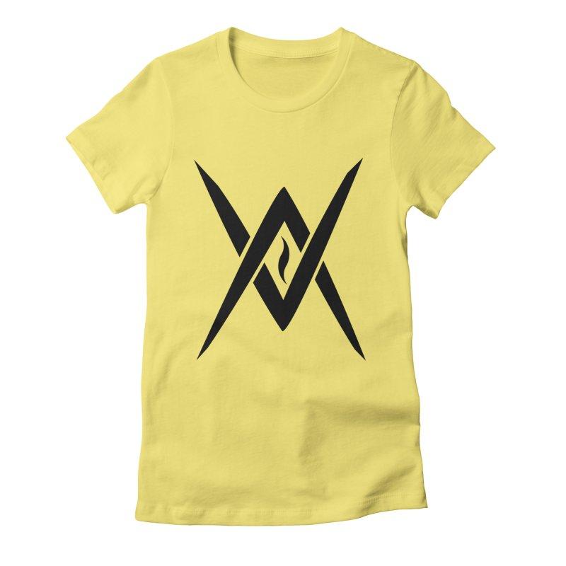 "Venus Aeon ""Tantric Black Flame"" (Black) Women's Fitted T-Shirt by Venus Aeon (clothing)"