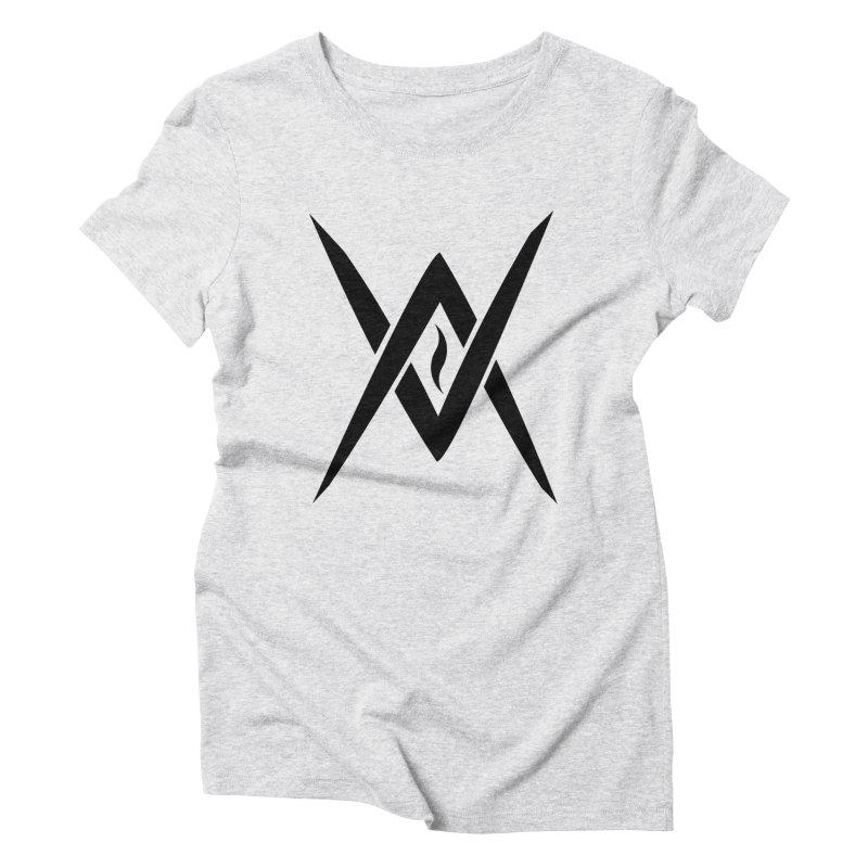 "Venus Aeon ""Tantric Black Flame"" (Black) Women's Triblend T-Shirt by Venus Aeon (clothing)"