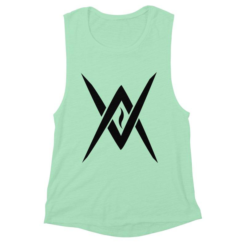 "Venus Aeon ""Tantric Black Flame"" (Black) Women's Muscle Tank by Venus Aeon (clothing)"