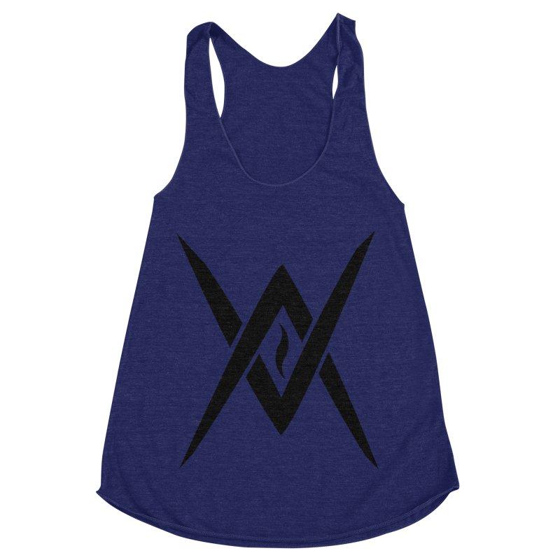 "Venus Aeon ""Tantric Black Flame"" (Black) Women's Racerback Triblend Tank by Venus Aeon (clothing)"