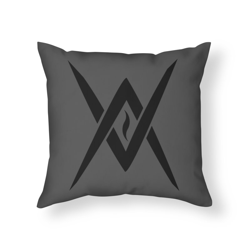 "Venus Aeon ""Tantric Black Flame"" (Black) Home Throw Pillow by Venus Aeon (clothing)"