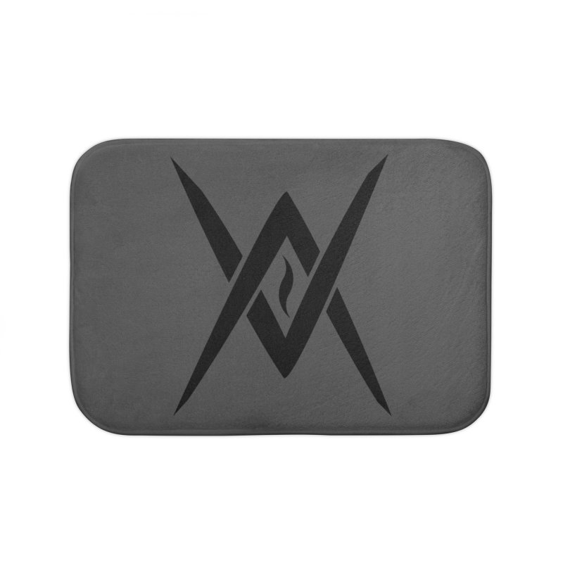 "Venus Aeon ""Tantric Black Flame"" (Black) Home Bath Mat by Venus Aeon (clothing)"