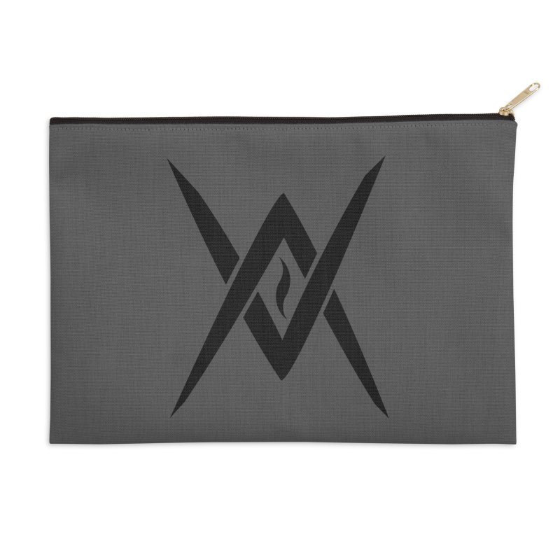 "Venus Aeon ""Tantric Black Flame"" (Black) Accessories Zip Pouch by Venus Aeon (clothing)"