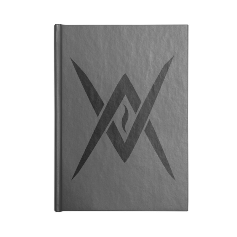 "Venus Aeon ""Tantric Black Flame"" (Black) Accessories Blank Journal Notebook by Venus Aeon (clothing)"