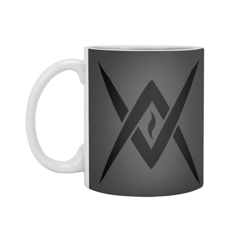 "Venus Aeon ""Tantric Black Flame"" (Black) Accessories Standard Mug by Venus Aeon (clothing)"