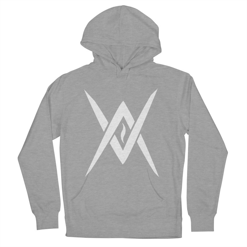 """Venus Aeon - """"Tantric Black Flame"""" (White) Men's French Terry Pullover Hoody by Venus Aeon (clothing)"""