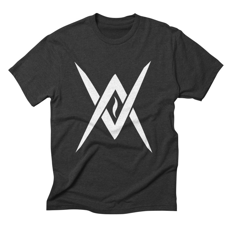 "Venus Aeon - ""Tantric Black Flame"" (White) Men's Triblend T-Shirt by Venus Aeon (clothing)"