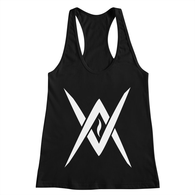 "Venus Aeon - ""Tantric Black Flame"" (White) Women's Tank by Venus Aeon (clothing)"