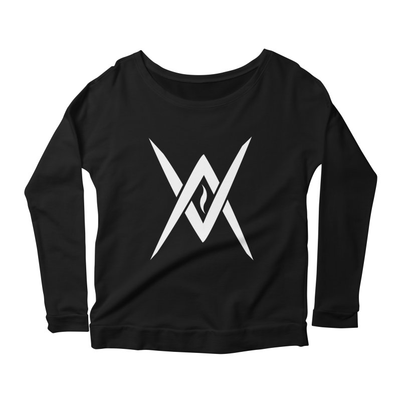 "Venus Aeon - ""Tantric Black Flame"" (White) Women's Longsleeve T-Shirt by Venus Aeon (clothing)"