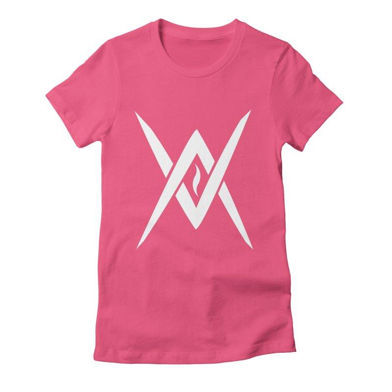 "Venus Aeon - ""Tantric Black Flame"" (White) Women's Fitted T-Shirt by Venus Aeon (clothing)"