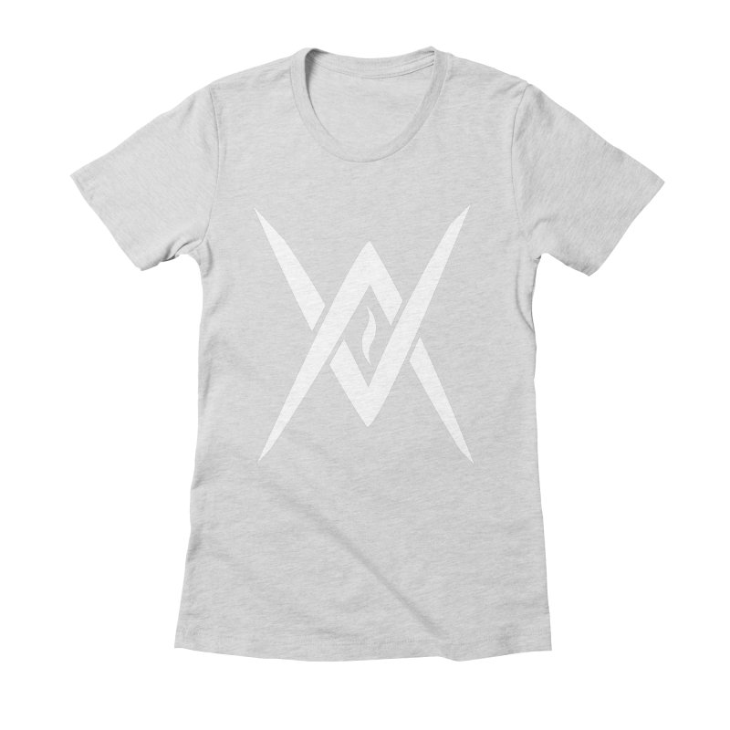 "Venus Aeon - ""Tantric Black Flame"" (White) Women's Fitted T-Shirt by Venus Aeon (clothing)"