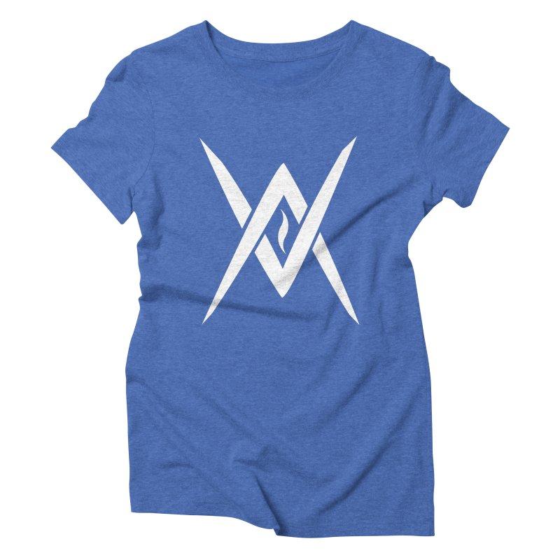 "Venus Aeon - ""Tantric Black Flame"" (White) Women's Triblend T-Shirt by Venus Aeon (clothing)"