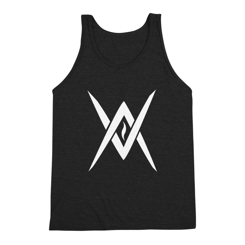 "Venus Aeon - ""Tantric Black Flame"" (White) Men's Tank by Venus Aeon (clothing)"