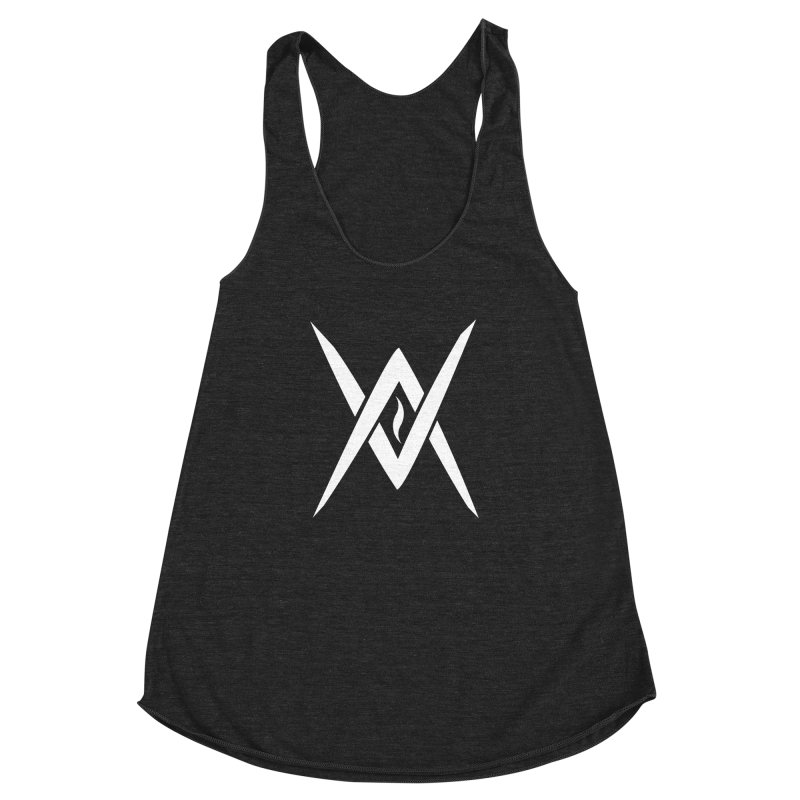 "Venus Aeon - ""Tantric Black Flame"" (White) Women's Racerback Triblend Tank by Venus Aeon (clothing)"