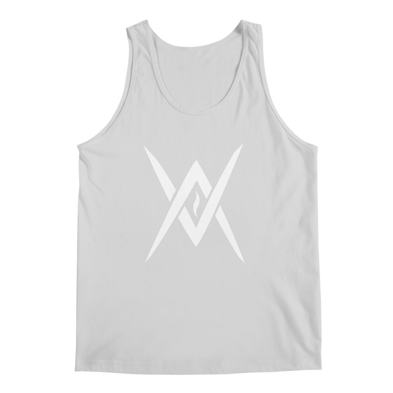"Venus Aeon - ""Tantric Black Flame"" (White) Men's Regular Tank by Venus Aeon (clothing)"