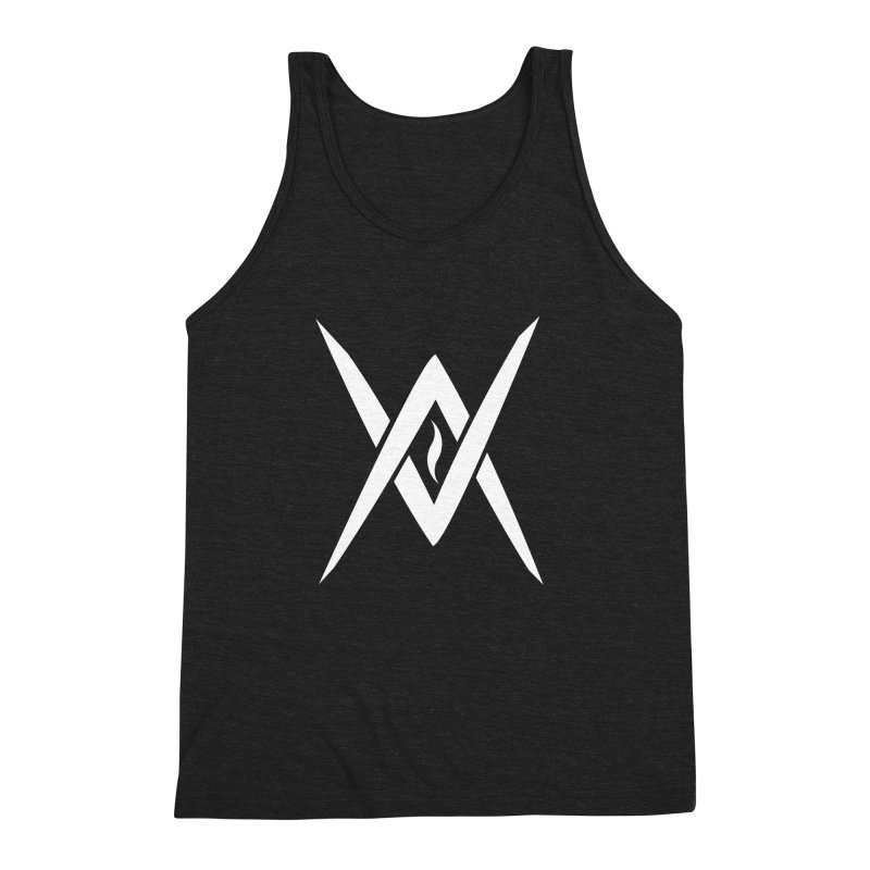 "Venus Aeon - ""Tantric Black Flame"" (White) Men's Triblend Tank by Venus Aeon (clothing)"