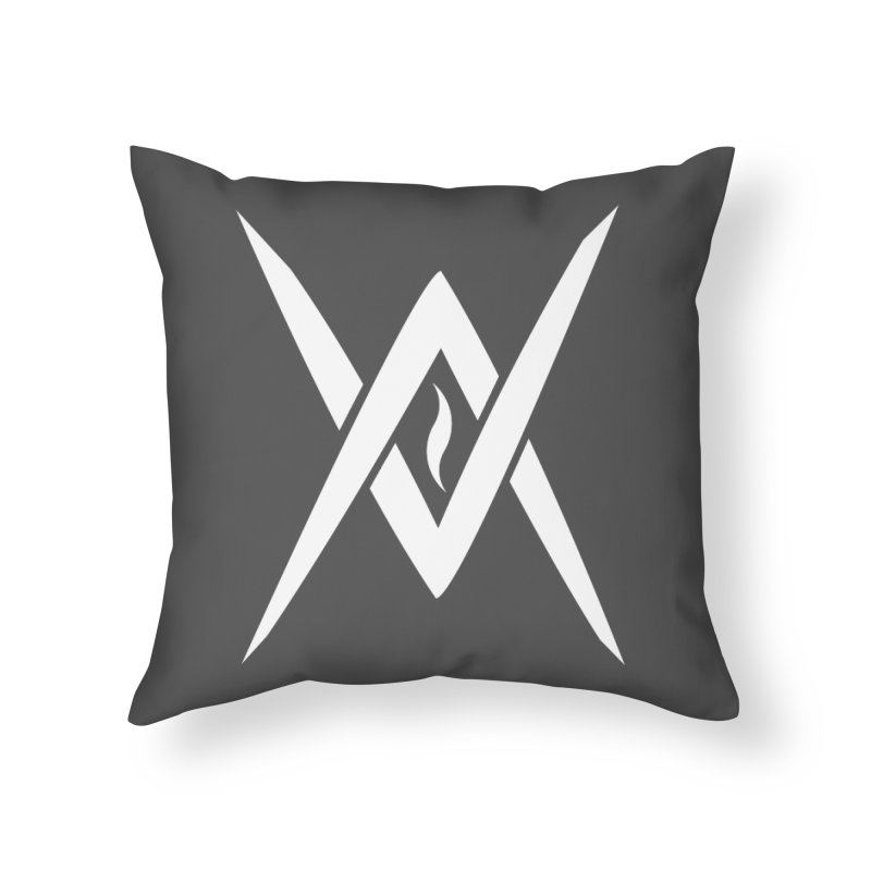"Venus Aeon - ""Tantric Black Flame"" (White) Home Throw Pillow by Venus Aeon (clothing)"