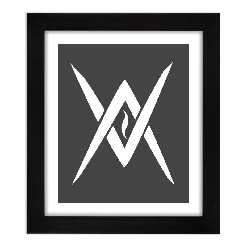 "Venus Aeon - ""Tantric Black Flame"" (White) Home Framed Fine Art Print by Venus Aeon (clothing)"