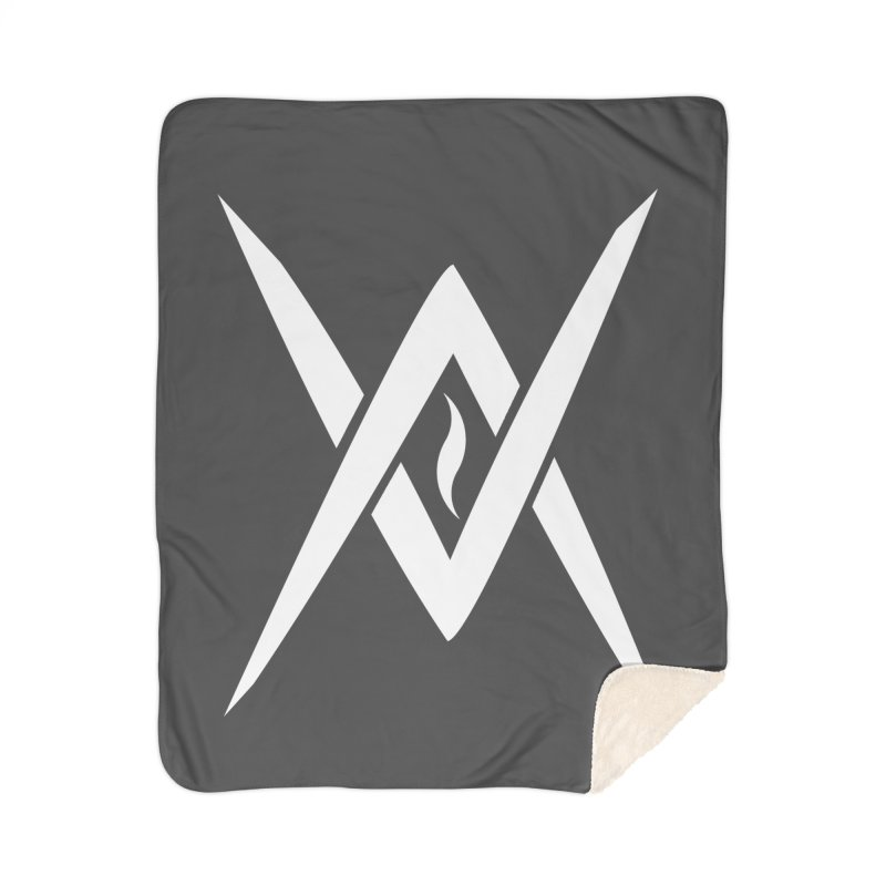 "Venus Aeon - ""Tantric Black Flame"" (White) Home Sherpa Blanket Blanket by Venus Aeon (clothing)"