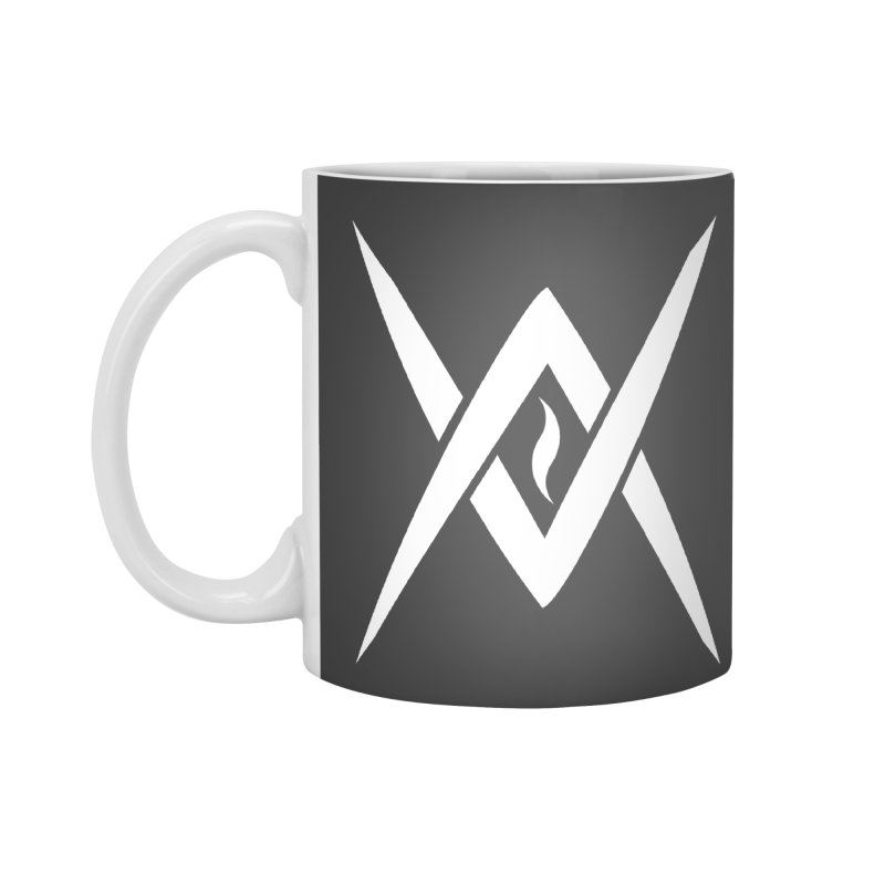 "Venus Aeon - ""Tantric Black Flame"" (White) Accessories Standard Mug by Venus Aeon (clothing)"