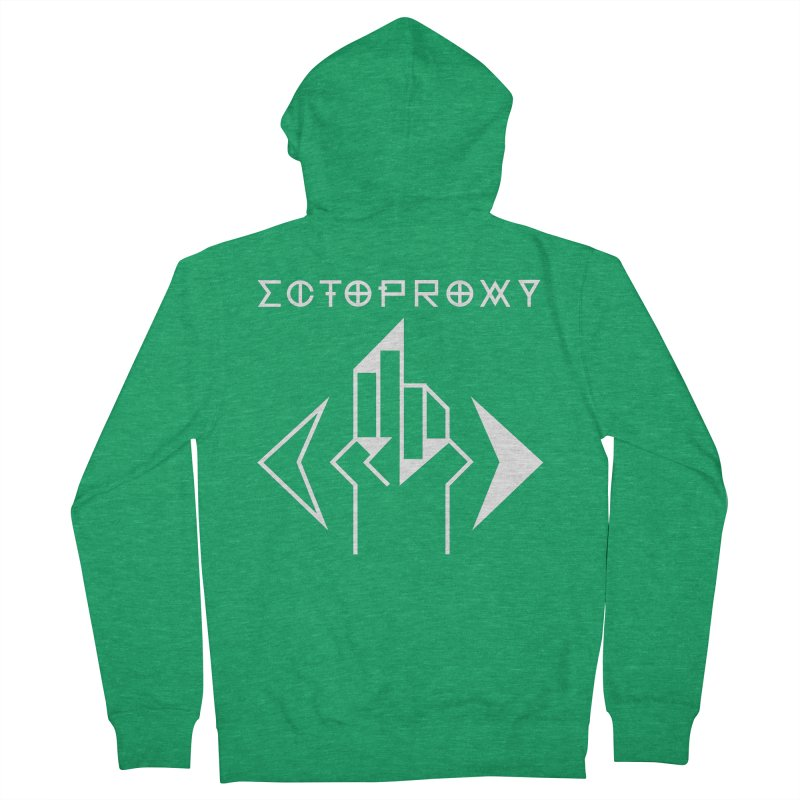 Ectoproxy (white) Men's Zip-Up Hoody by Venus Aeon (clothing)