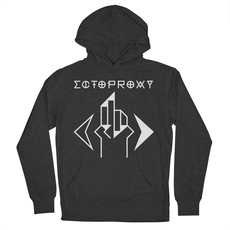 Ectoproxy (white) Men's French Terry Pullover Hoody by Venus Aeon (clothing)