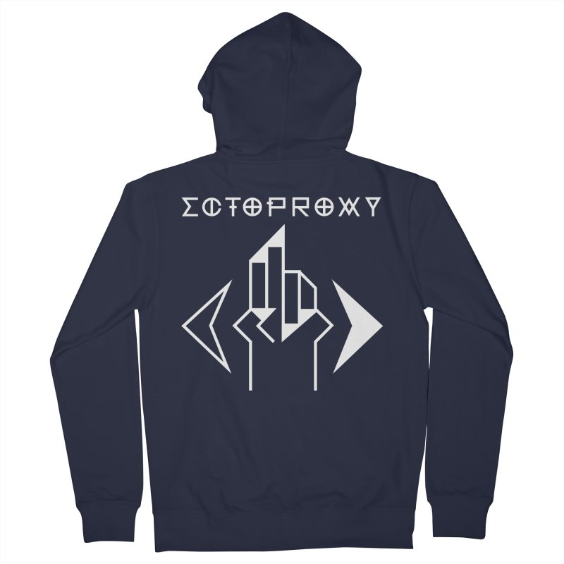 Ectoproxy (white) Women's Zip-Up Hoody by Venus Aeon (clothing)