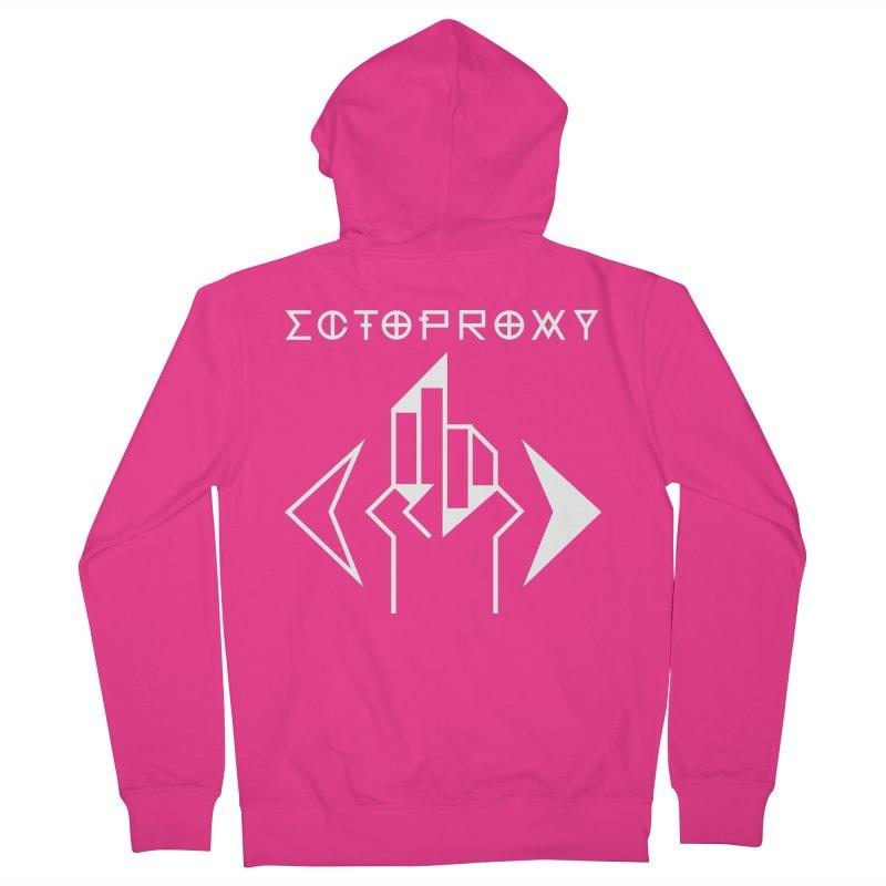 Ectoproxy (white) Men's Zip-Up Hoody by Venus Aeon (clothing)