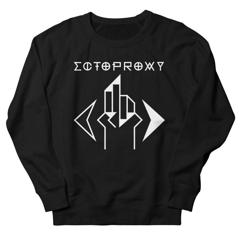 Ectoproxy (white) Men's French Terry Sweatshirt by Venus Aeon (clothing)