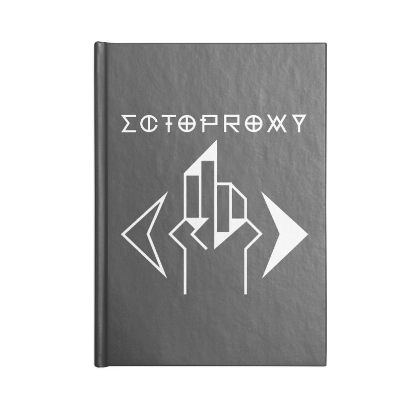 Ectoproxy (white) Accessories Blank Journal Notebook by Venus Aeon (clothing)