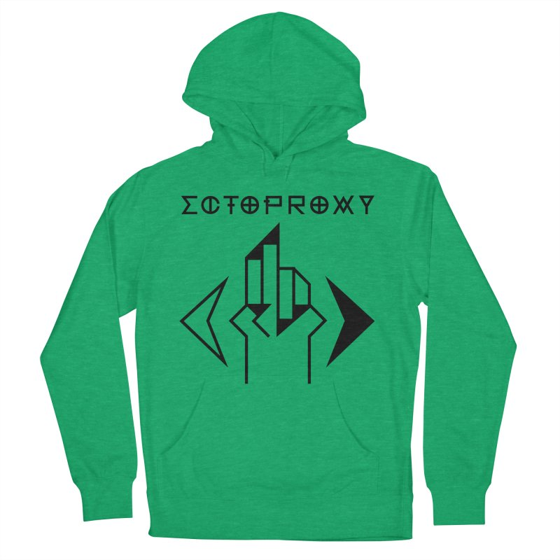 Ectoproxy (black) Women's French Terry Pullover Hoody by Venus Aeon (clothing)