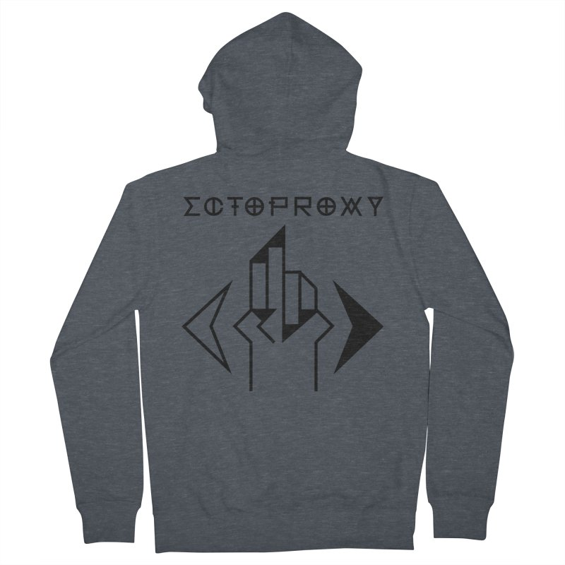 Ectoproxy (black) Men's Zip-Up Hoody by Venus Aeon (clothing)