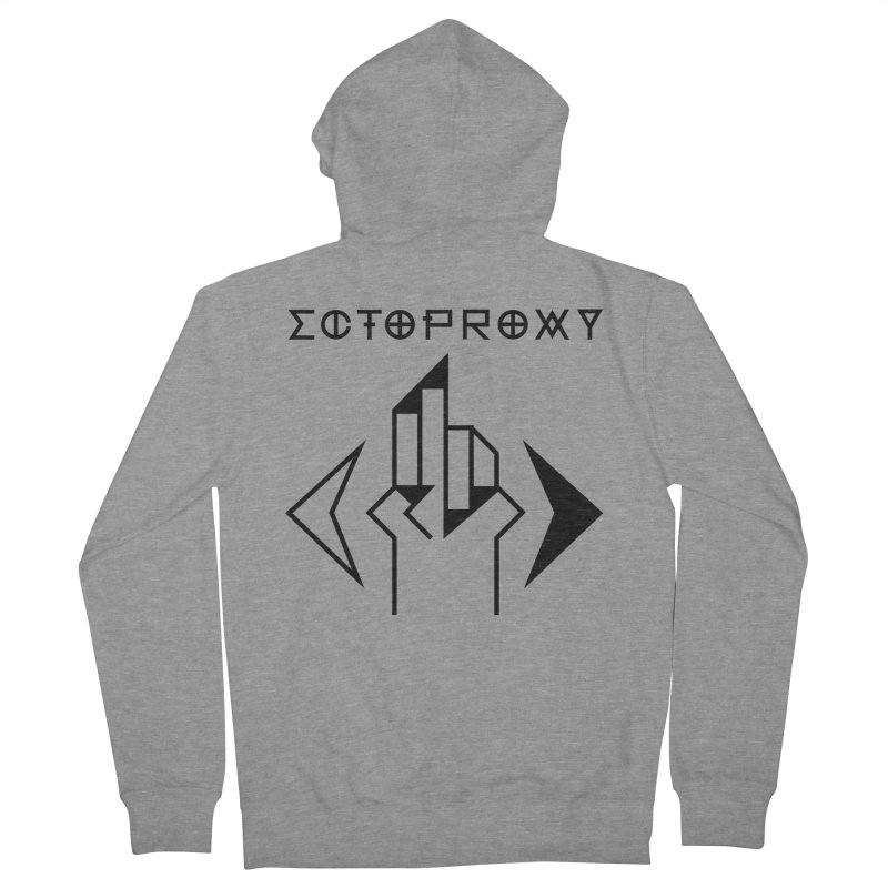 Ectoproxy (black) Men's French Terry Zip-Up Hoody by Venus Aeon (clothing)