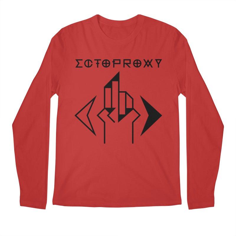 Ectoproxy (black) Men's Regular Longsleeve T-Shirt by Venus Aeon (clothing)