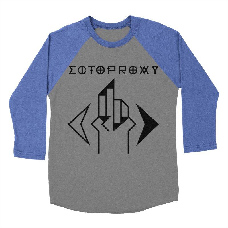 Ectoproxy (black) Men's Baseball Triblend T-Shirt by Venus Aeon (clothing)