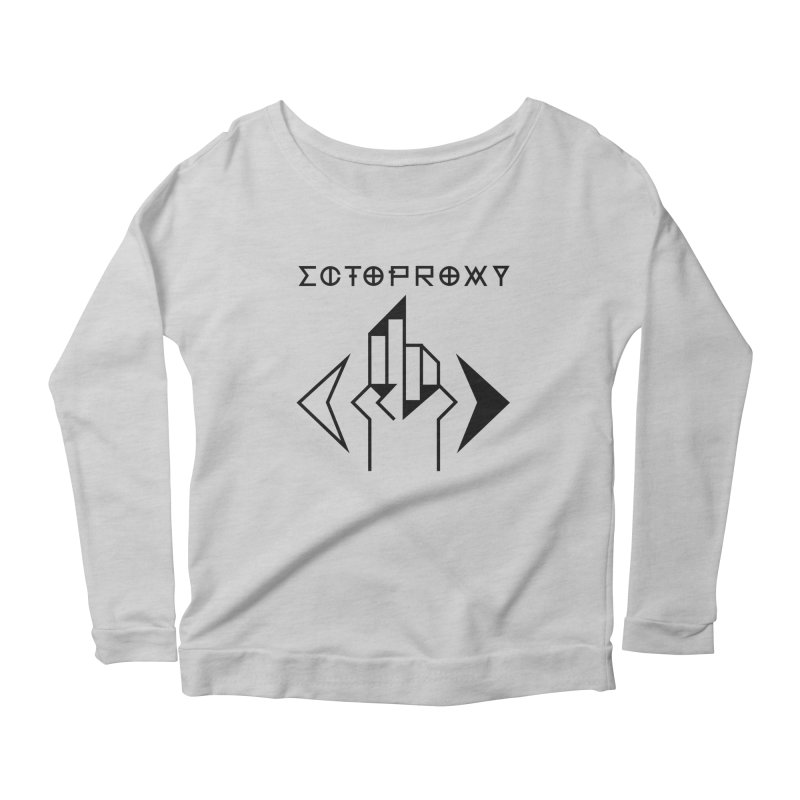 Ectoproxy (black) Women's Scoop Neck Longsleeve T-Shirt by Venus Aeon (clothing)