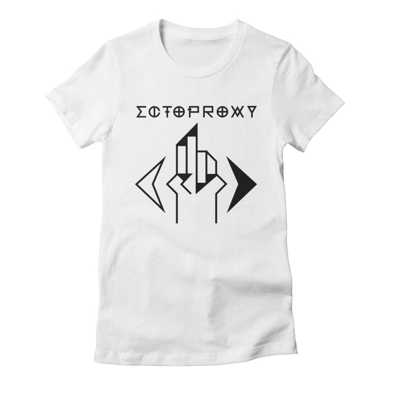 Ectoproxy (black) Women's Fitted T-Shirt by Venus Aeon (clothing)