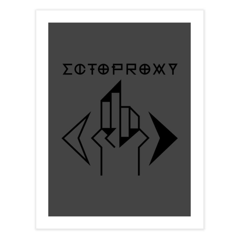 Ectoproxy (black) Home Fine Art Print by Venus Aeon (clothing)
