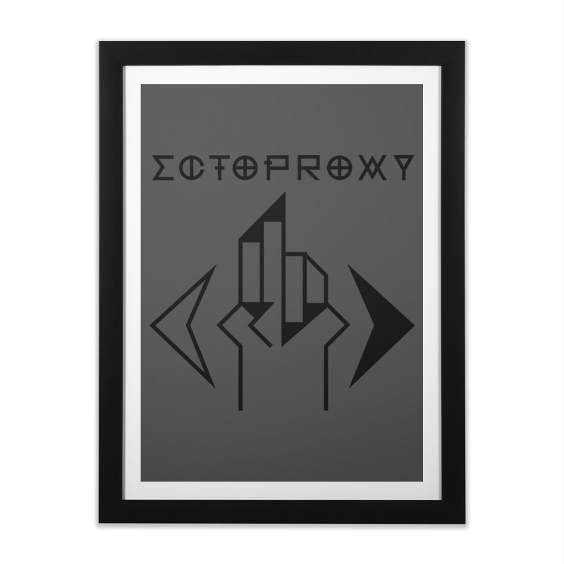 Ectoproxy (black) Home Framed Fine Art Print by Venus Aeon (clothing)